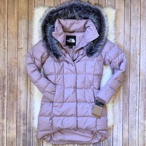 The North Face Fur Hooded Down Parkina Jacket